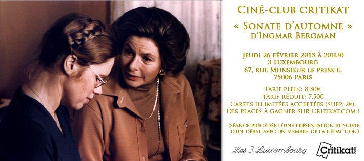 Concours ciné-club «Sonate d'automne»