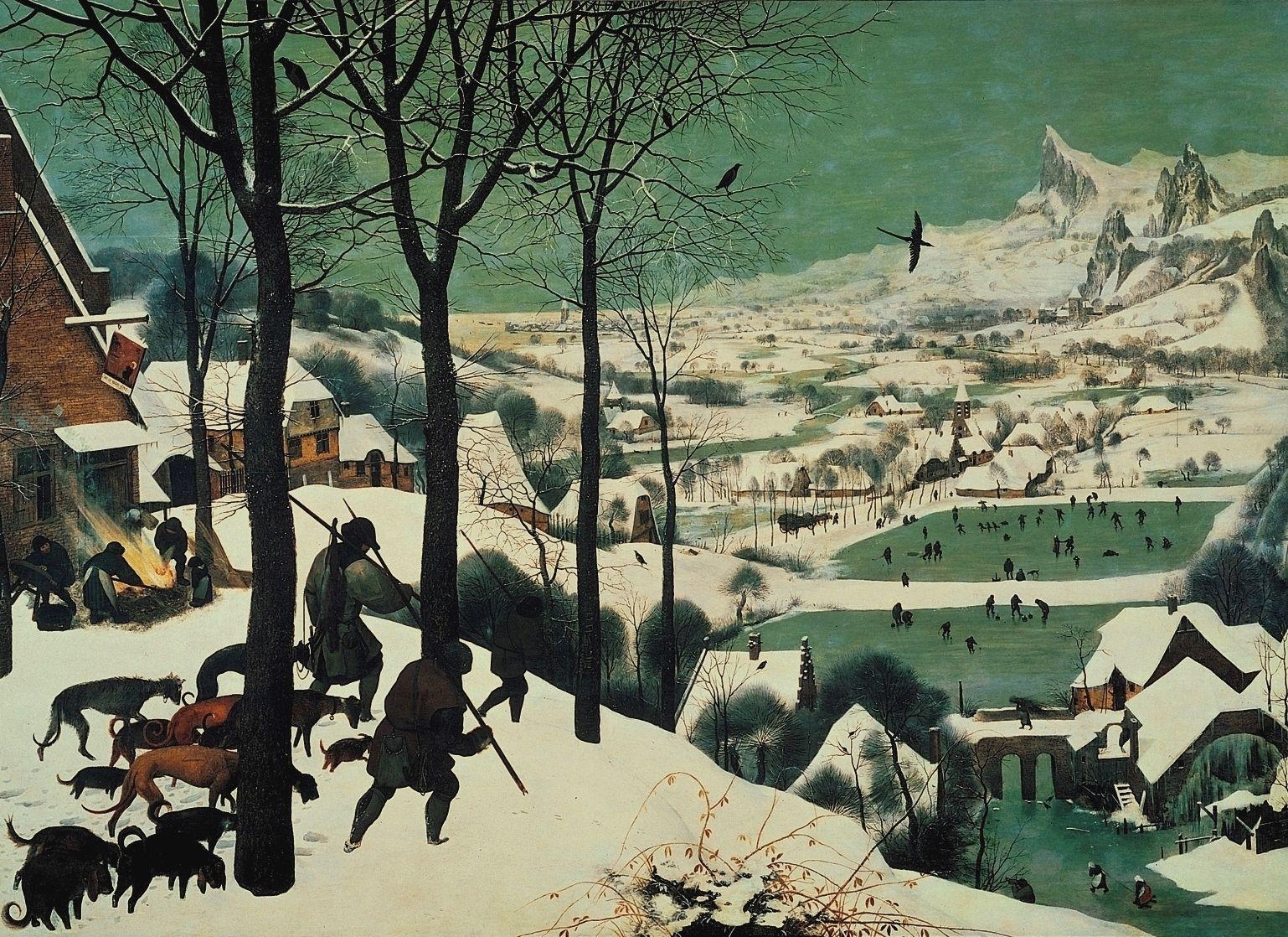 Pieter Bruegel (l'Ancien), <i>Chasseurs dans la neige</i>