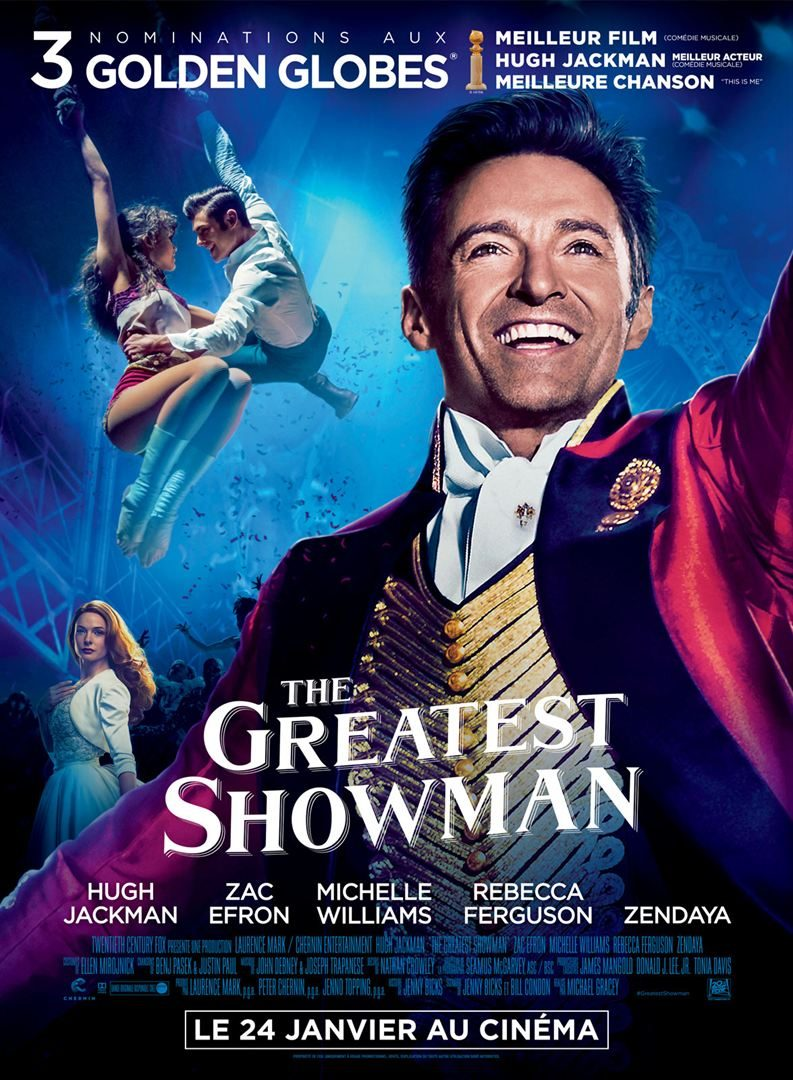 affiche the greatest showman