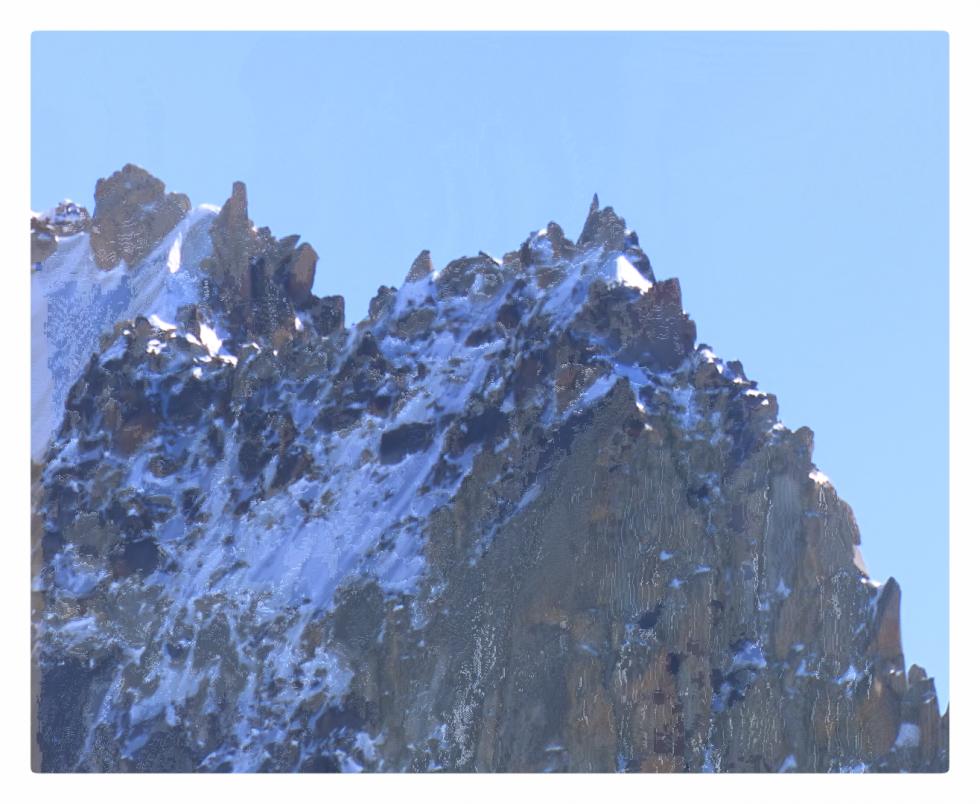 Avant l'effondrement du Mont Blanc